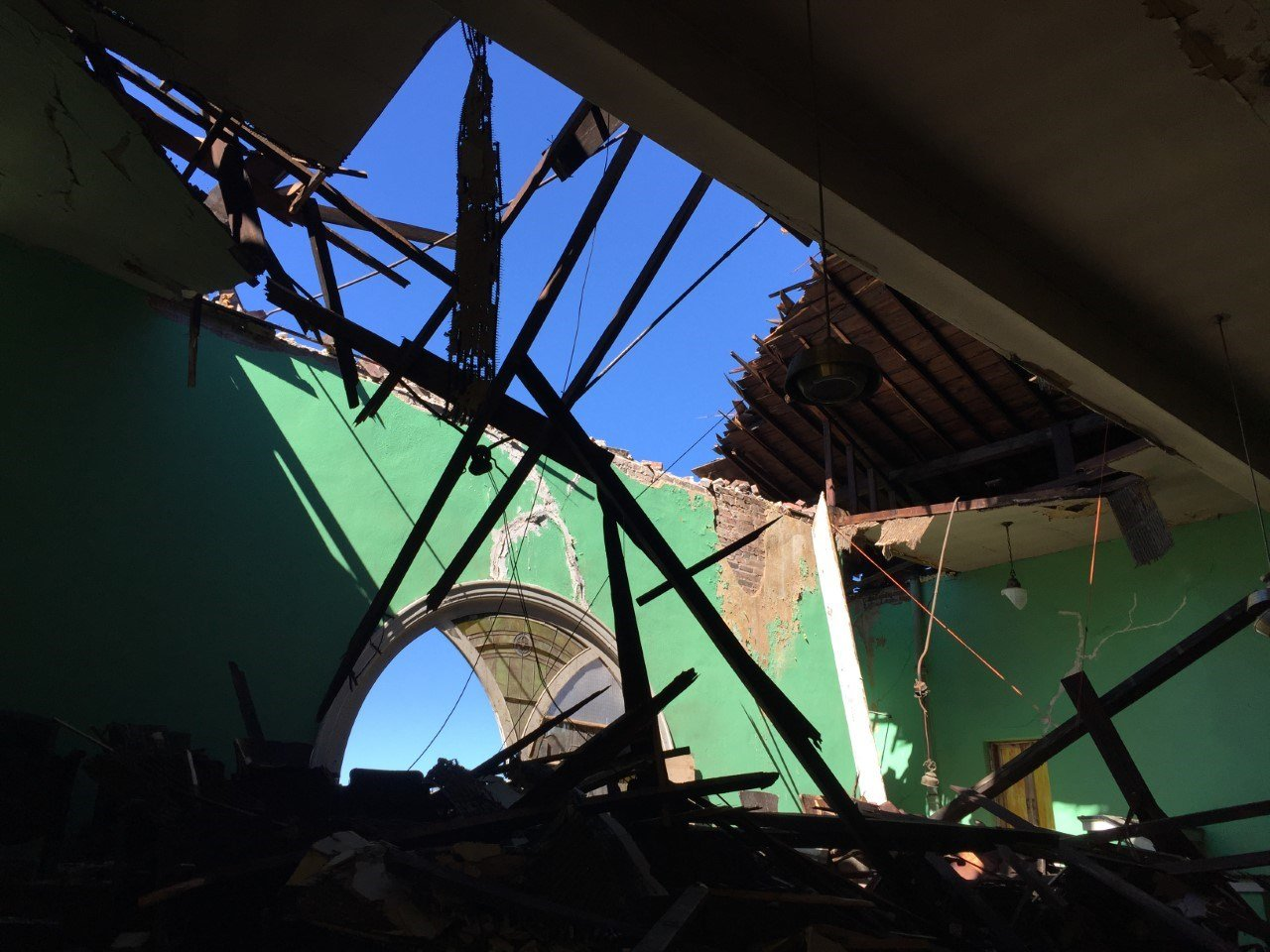 While a tornado did not hit downtown Kansas City, the city did not escape storm damage on Monday.  (Edwin Watson/KCTV5)