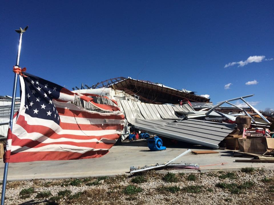 Hundreds of homes were damaged in Oak Grove following a tornado on Monday. (Emily SInovic/KCTV5)