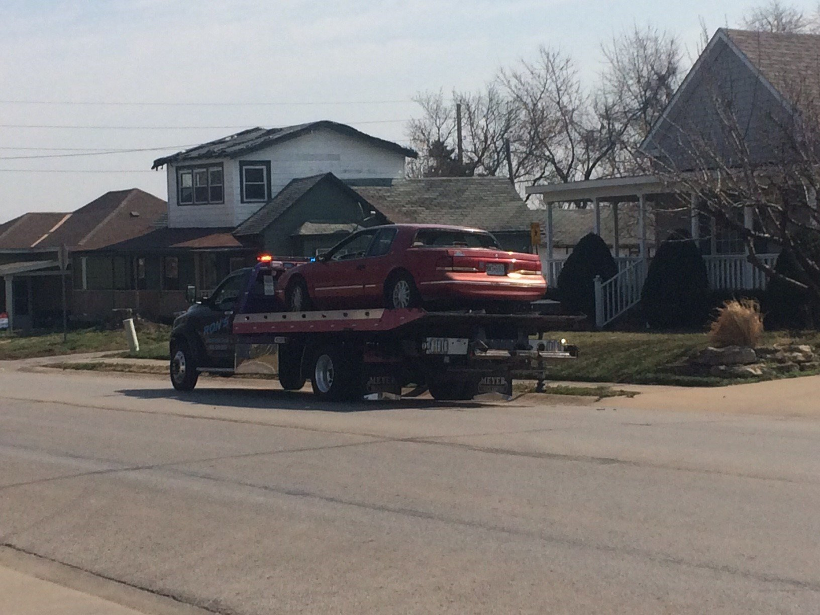 The Jackson County Sheriff's Office arrested a man for looting a home damaged by the tornado. (Emily Sinovic/KCTV5 News)