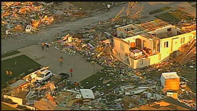 File photo - This is what Oak Grove looked like the day after the tornado. (KCTV)