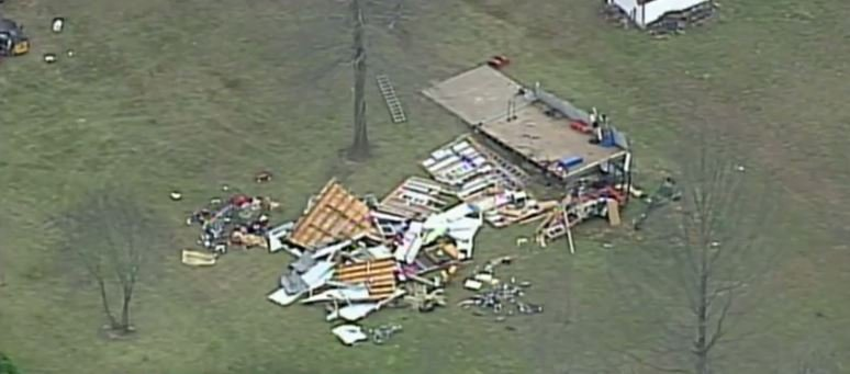 How the damage in Odessa looked on Thursday afternoon. (KCTV)