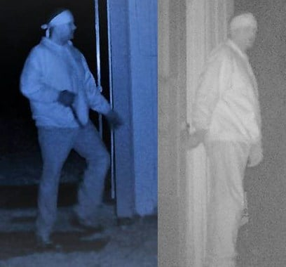 The Johnson County Sheriff's Office is trying to identify this man who stole from a Spring Hill workshop twice. (KCTV)