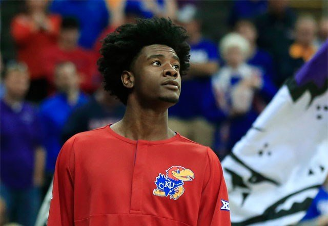 Kansas coach Bill Self says star freshman Josh Jackson will not miss NCAA Tournament games for an off-the-court issue involving a member of the women's basketball team. (AP)