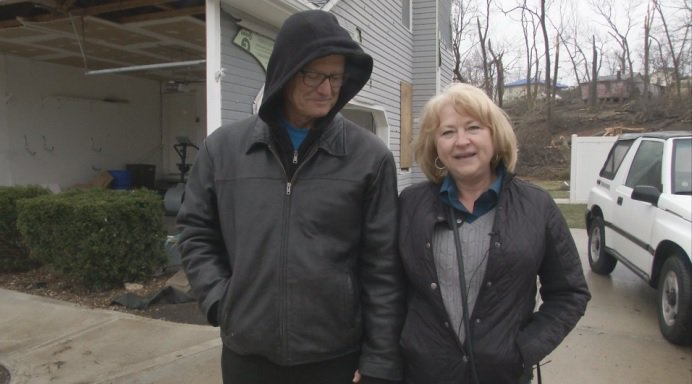 Scherrie Stanley and her husband Dave built their dream home on S Clinton St. in 1991. In one night, with one terrible storm, it was gone. (KCTV5)