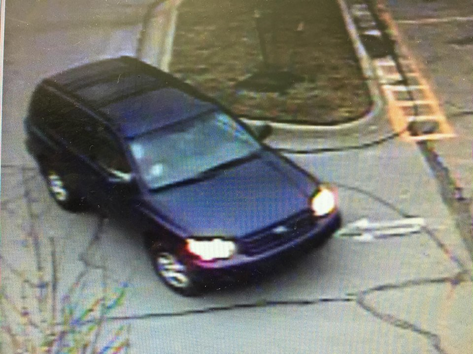 The suspects were driving a blue SUV, according to police. (Overland Park Police Department)