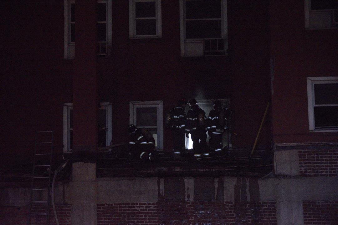 The Kansas City Fire Department confirmed the fire happened at an abandoned building located on the Streetcar route.(Submitted)