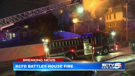 The fire was reported before 10 p.m. on Wednesday night.(KCTV5)