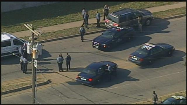 A high-speed police chase ended in a crash Thursday near Prospect Avenue and Gregory Boulevard. (Chopper5)