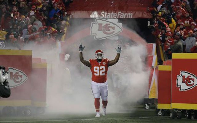 The Atlanta Falcons have bolstered their defensive line by agreeing to terms with two-time Pro Bowler Dontari Poe. (AP)