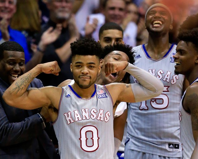 Led by senior guard Frank Mason's 20.8 points per game, Kansas enters the tournament 16th in the country with an average of 82.7 points per game. (AP)