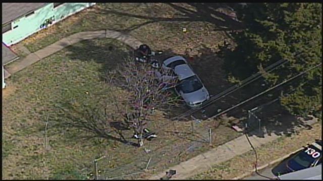 The scene of the crash that left two children dead on Friday. (KCTV)