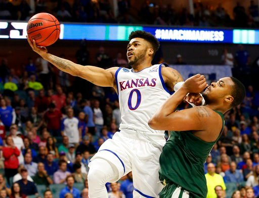 Frank Mason scored 20 points in the Jayhawks' win. (AP)