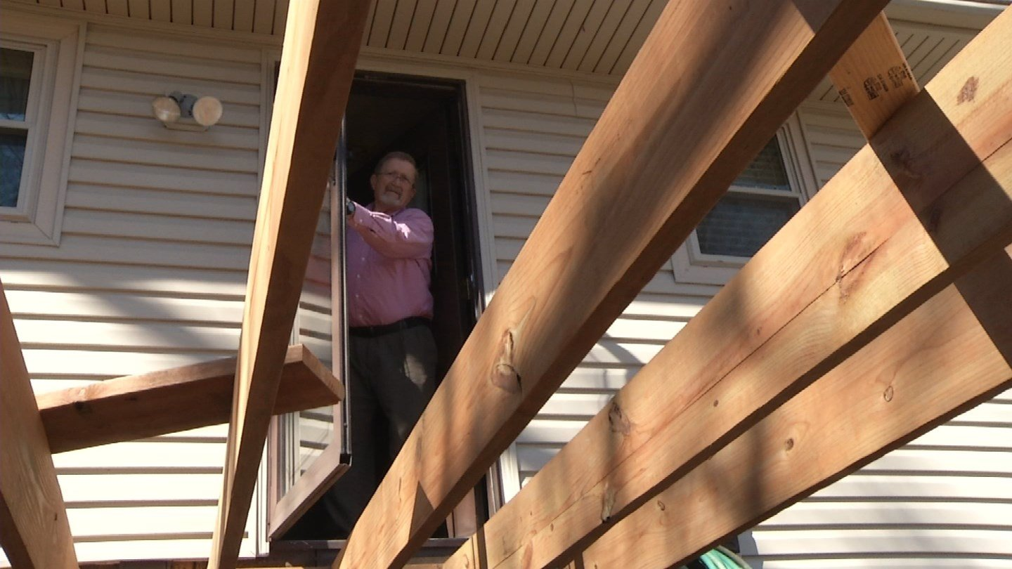 Kenneth Wood and his wife had a 30-year-old deck in need of repair or replacement.   In November, Wood hired Home Renovation Service to build the deck. (KCTV5)