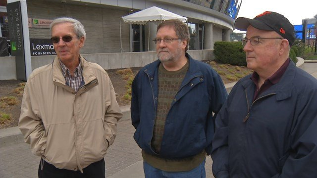 For all three gentlemen, it's their first time in Kansas City and their first at a NCAA basketball tournament. (KCTV5)