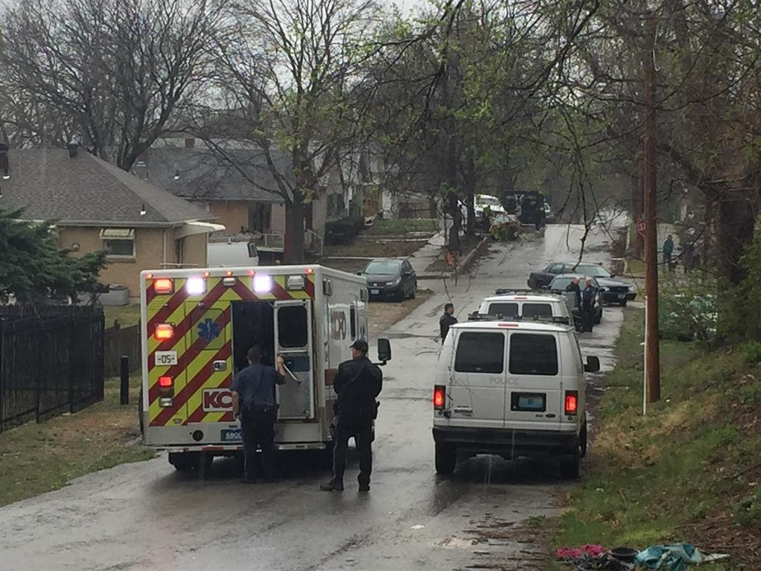 The crash happened in the area of 12th and Bennington. (Betsy Webster/KCTV)
