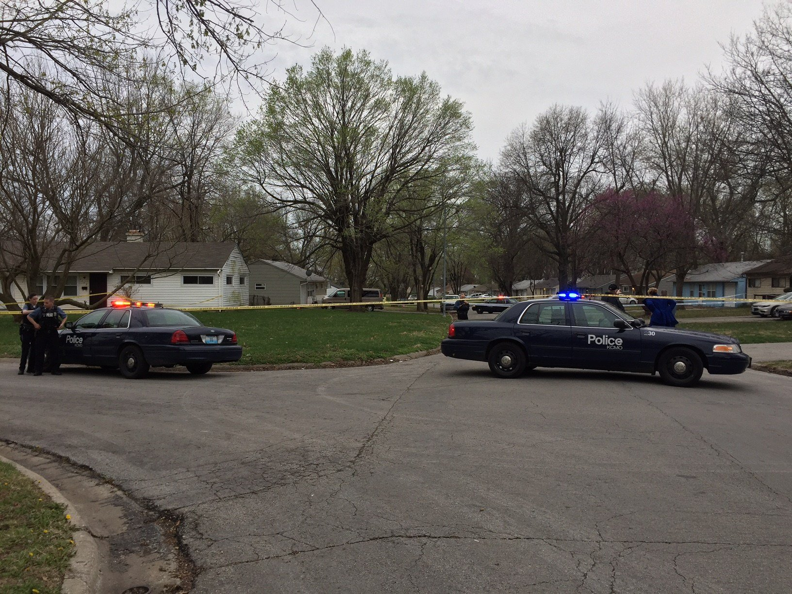 Two people are in serious condition after a double shooting in south KCMO. (Dwain Crispell/KCTV5)