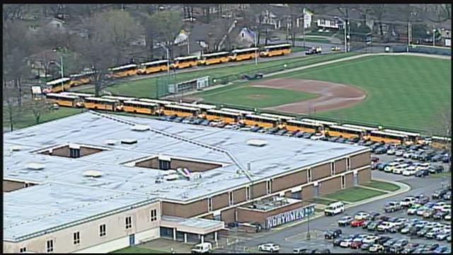 A North Kansas City School District spokeswomansaid Oak Park High School went on lockafter a threat was made. (KCTV5)