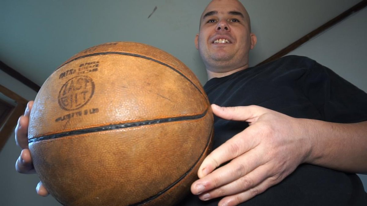 There are basketball fans, and then there are fans of basketballs. Jeremy Whitham is a 32-year-old man who falls into the secondcategory. He keeps more than 1,000 balls in his basement. (Nathan Vickers/KCTV5 News)