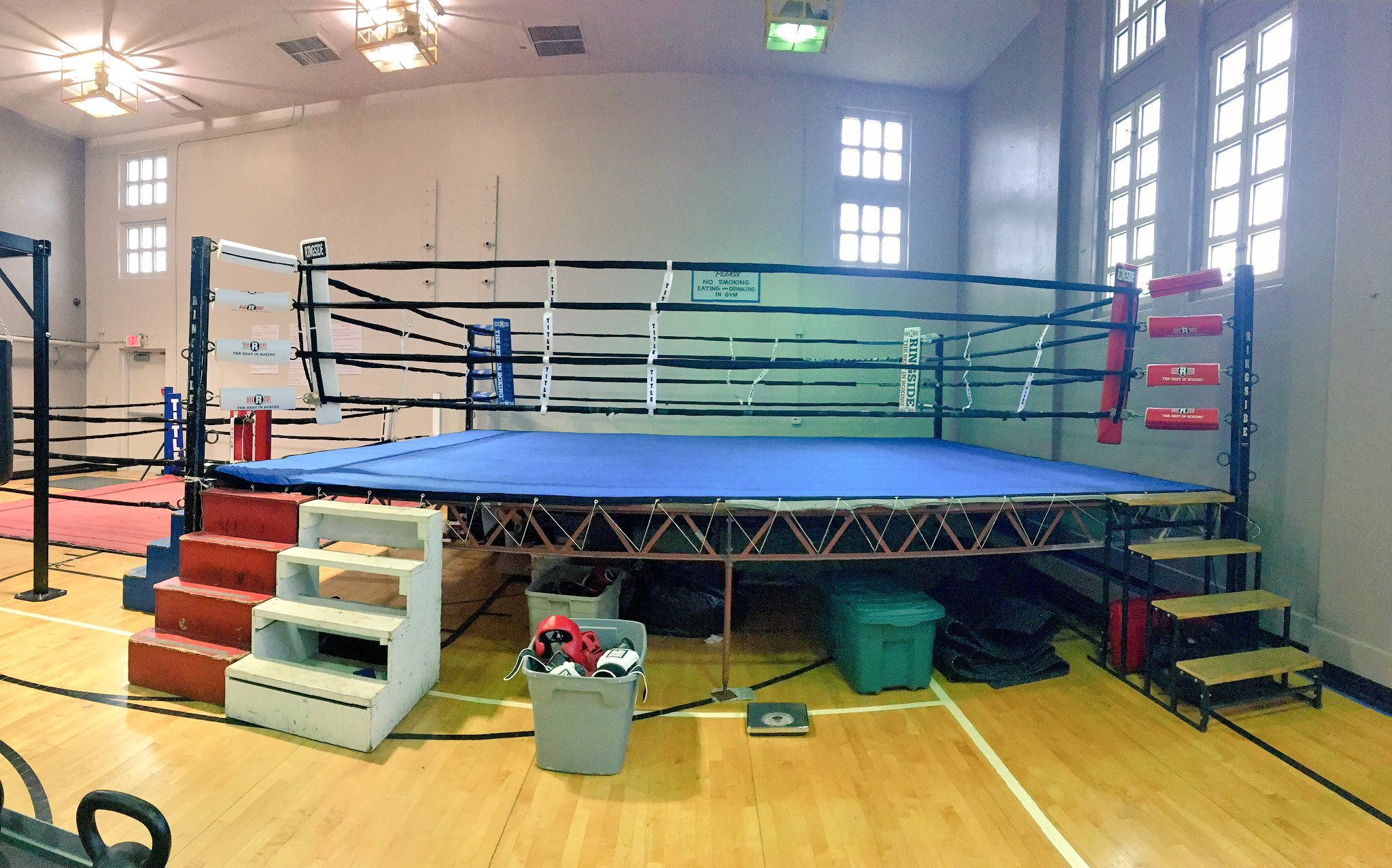 The community center started a brand new boxing club, complete with a boxing ring, practice ring and other needed equipment. (KCTV5)