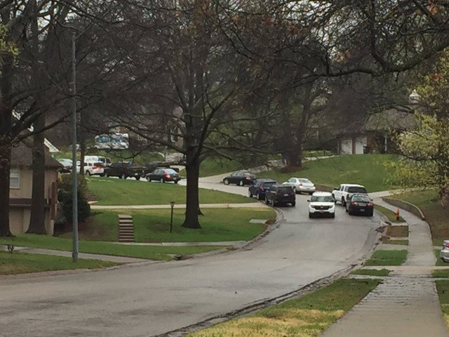 Officers have also gathered in the area of 36th Terrace and S Delaware Avenue. (KCTV5)