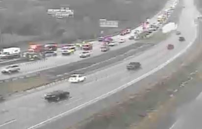 One person is dead following a wreck on Interstate 435 and Stadium Drive, according to the Missouri Highway Patrol.(KCScout)