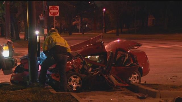 The crash happened about 5 a.m. at 63rd Street and Swope Parkway. (KCTV5)