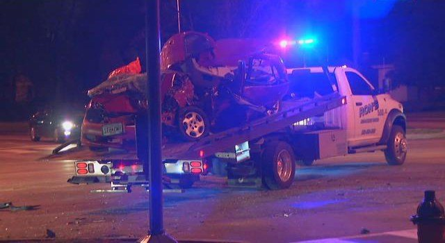 Crews did not say what caused the accident. (KCTV5)