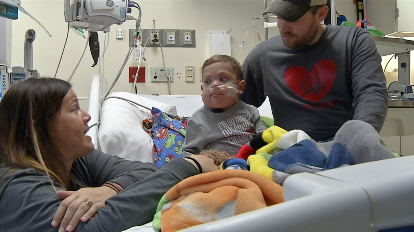 Mason understands he's going home, and this is good. There will be normal moments ahead. He's smiling about his road trip back home to Springfield, MO and a chocolate milkshake. (KCTV5)