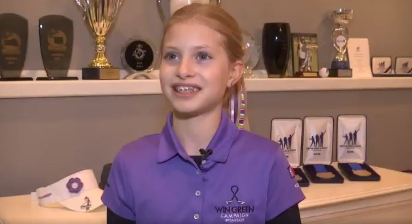 Emree Cameron is only 9 years old, but will will embrace the national spotlight and compete in the 2017 Drive, Chip and Putt Championship. (KCTV)