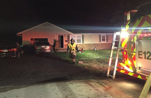 Firefighters say they found the fire in the attic of the home and that they believe it was probably an electrical fire. (KCTV5)
