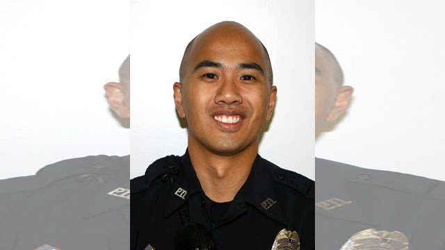 Officer Thomas Wagstaff was critically injured when he responded to a reported robbery and was struck by a bullet. (KCTV)
