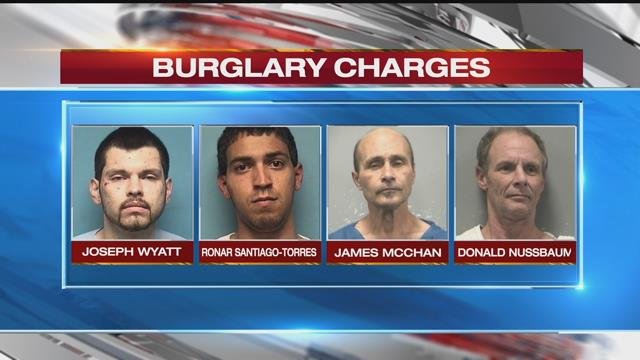 Four men charged after a home invasion left an Independence police officer critically injured will each be held on $500,000 bond. (KCPD)