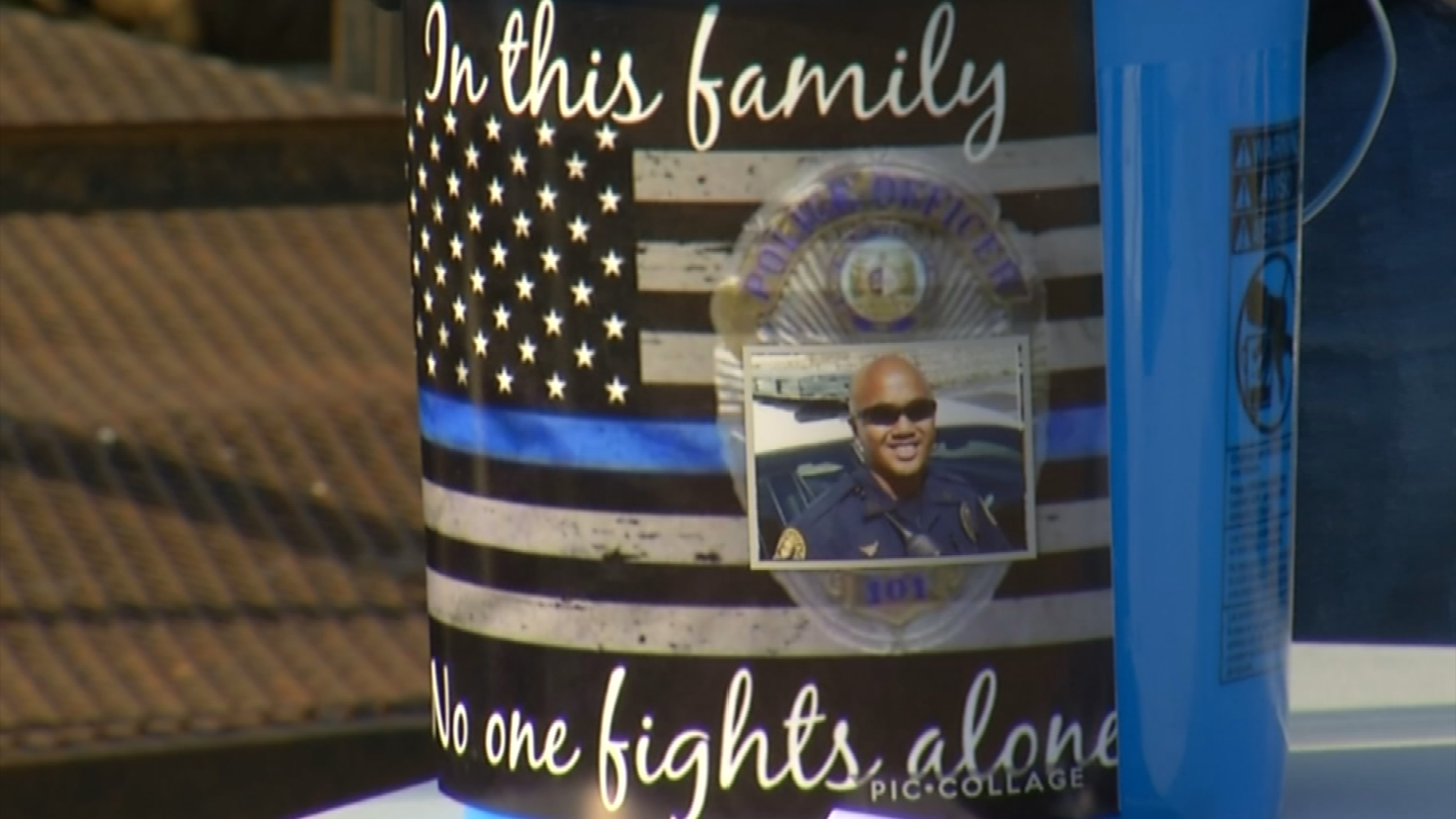 A community came together at Valley Speedway in Grain Valley to support Independence Police Officer Thomas Wagstaff, who is recovering in a hospital after being shot. (Nathan Vickers/KCTV5)