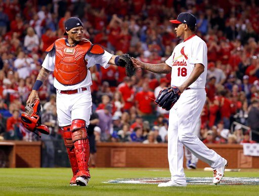 St. Louis Cardinals pitcher Carlos Martinez wrote Ventura's and Oscar Taveras' jersey numbers into the mound before he started pitching on Sunday.(AP)