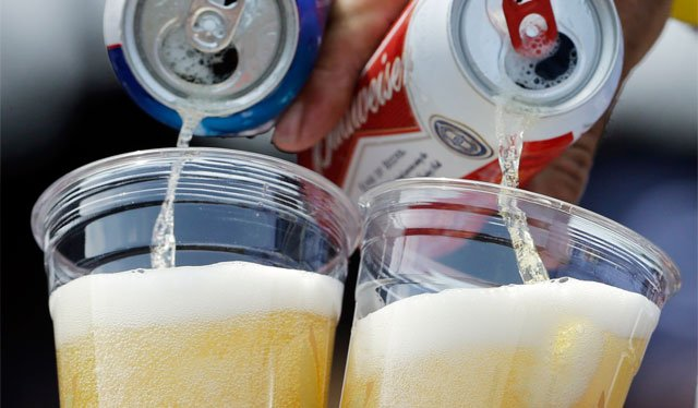 The University of Kansas is piloting the sale of alcoholic beverages at some on-campus events in order to compete with off-campus experiences. (AP)