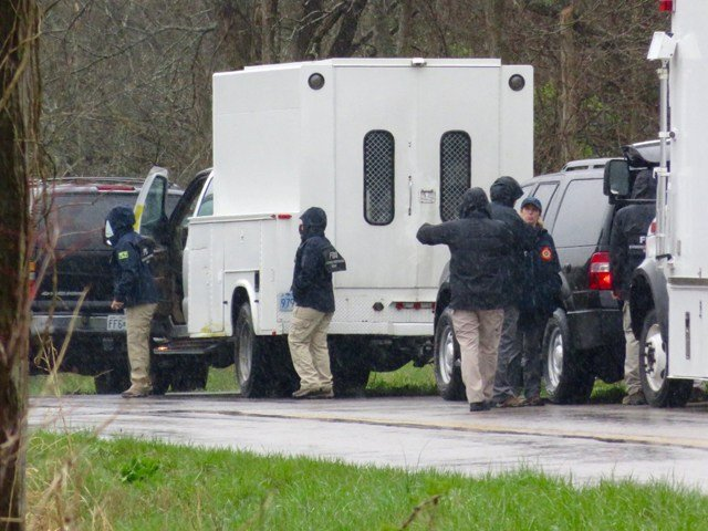 Authorities say they will be in the areafor awhile to conduct an extensive search of the area. (KCTV5)