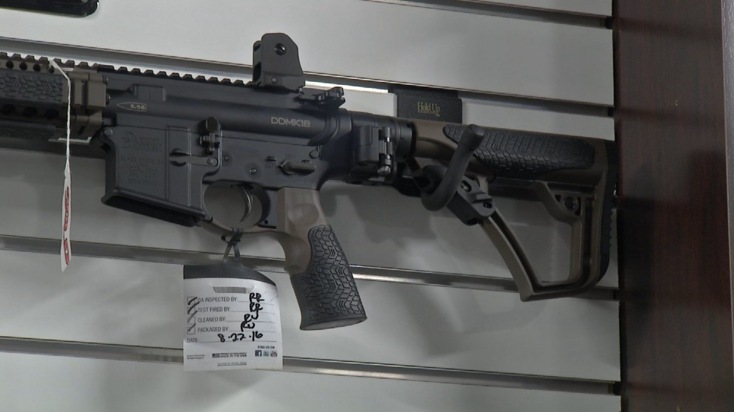 Federal background checks, which do not precisely track gun sales but serve as the best available proxy, have fallen significantly each of the three months since Election Day. (KCTV5)