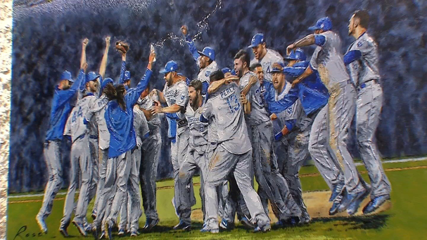The 2015 World Series victory and ensuing parade are two of the most iconic moments in Kansas City's sports history. They are moments that have been captured forever in a gorgeous painting. (KCTV5)