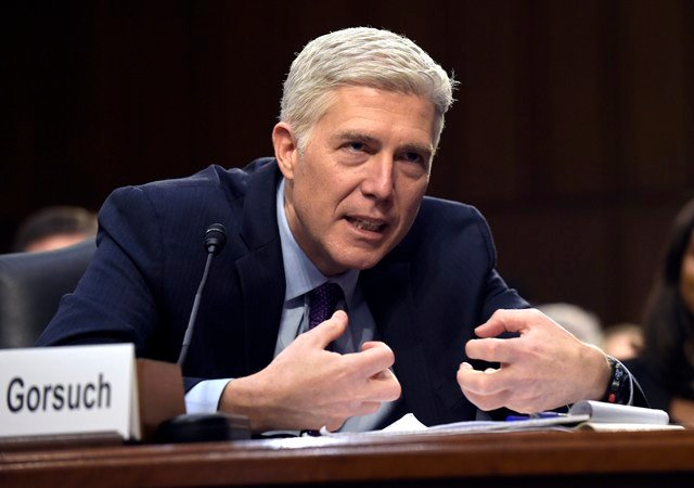 Democrats opposing Gorsuch say they believe he would favor corporations over workers and would be on the far right of thecourt. (AP)