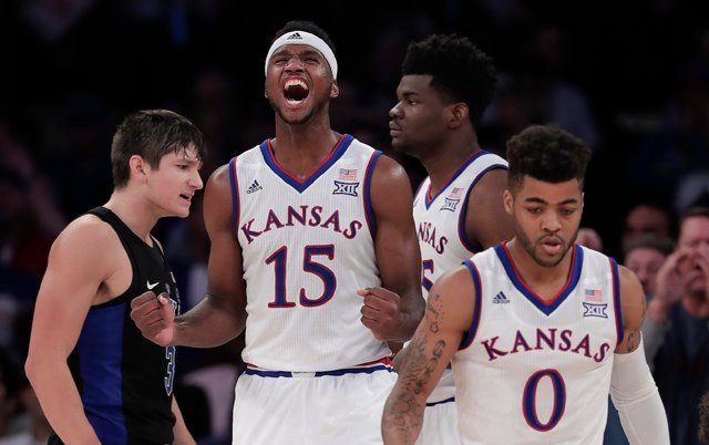 Bragg averaged 5.4 points and 4.1 rebounds in for Kansas in 2016-17. (AP)
