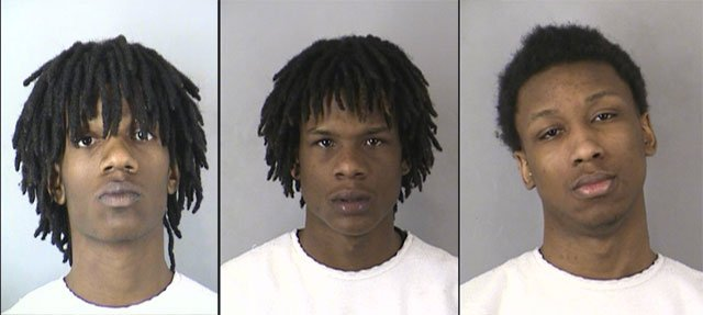 Ce-Antonyo D. Kennedy, (left to right), Dominic McDaniel and Issac M. Carter. (KCPD)