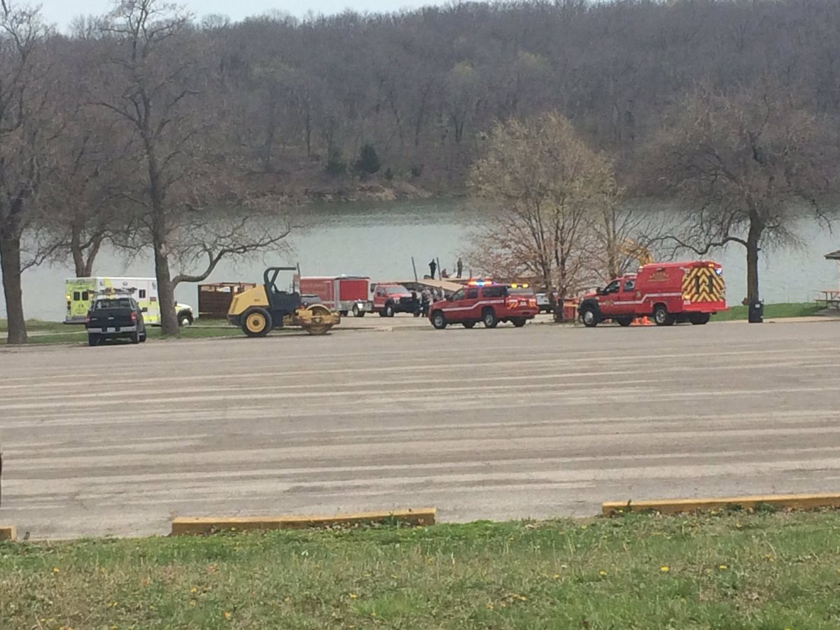 The scene at Shawnee Mission Park on Saturday afternoon. (Nathan Vickers/KCTV)