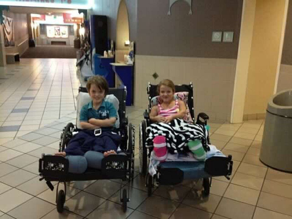Both Graham and Liddy underwent multiple limb-lengthening surgeries to help with their condition, and formed a bond that has lasted through the years. (Photo provided by Paulette Rider)