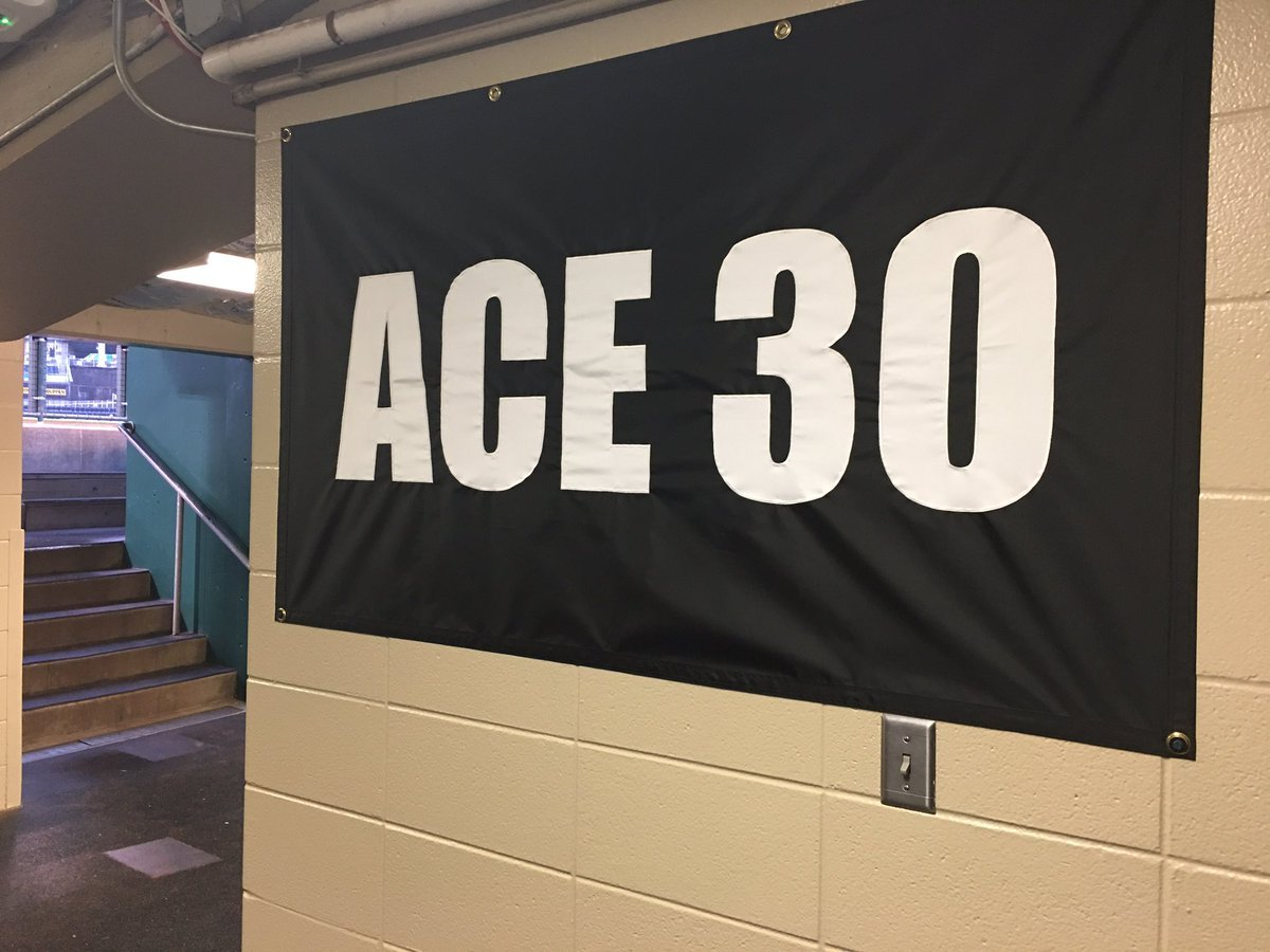 The Royals put up a banner outside the clubhouse and a memorial at his locker.  (Andrew Carter/KCTV5 News)