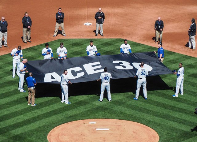 It has been 78 days since the tragic death of former Royals pitcher Yordano Ventura, but perhaps the most poignant tribute, remembrance and celebration of life for the Dominican Republic Ace came at the Royals home opener Monday. (Jeff Roberts/KCTV5 News)
