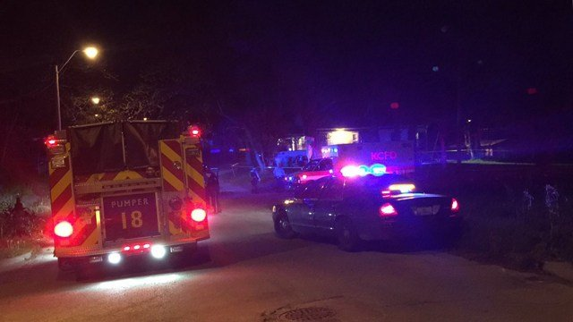 The victim of the shooting was taken to an area hospital and is in life-threatening condition. (KCTV5)