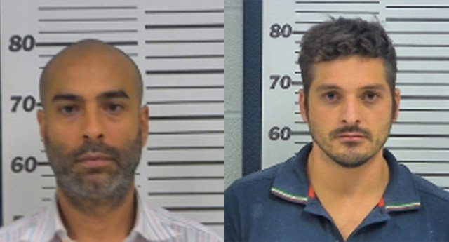 Pedro Donaciano Baptista-Zacarias, 38, (left) and Renato Lacovara, 31, (right) have been charged with trafficking in stolen identities. (KCTV5)