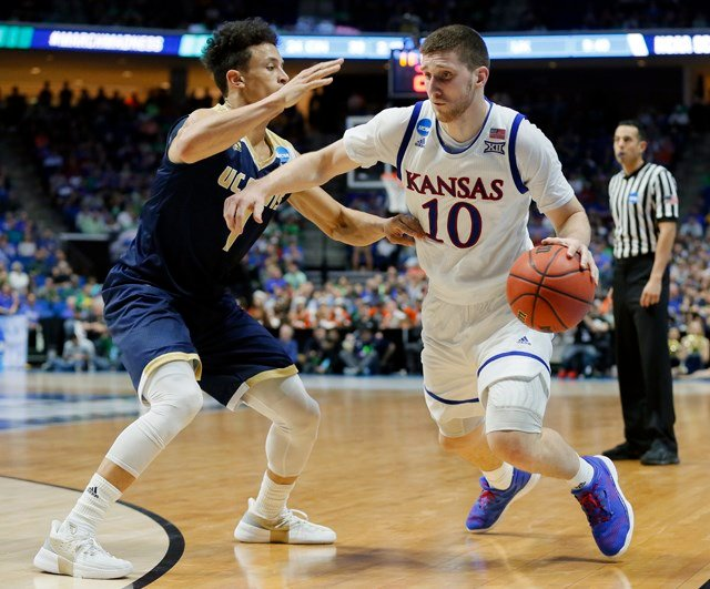 Mykhailiuk will have until May 24 to decide whether to remain in the draft or return to KU for his senior season. (AP)