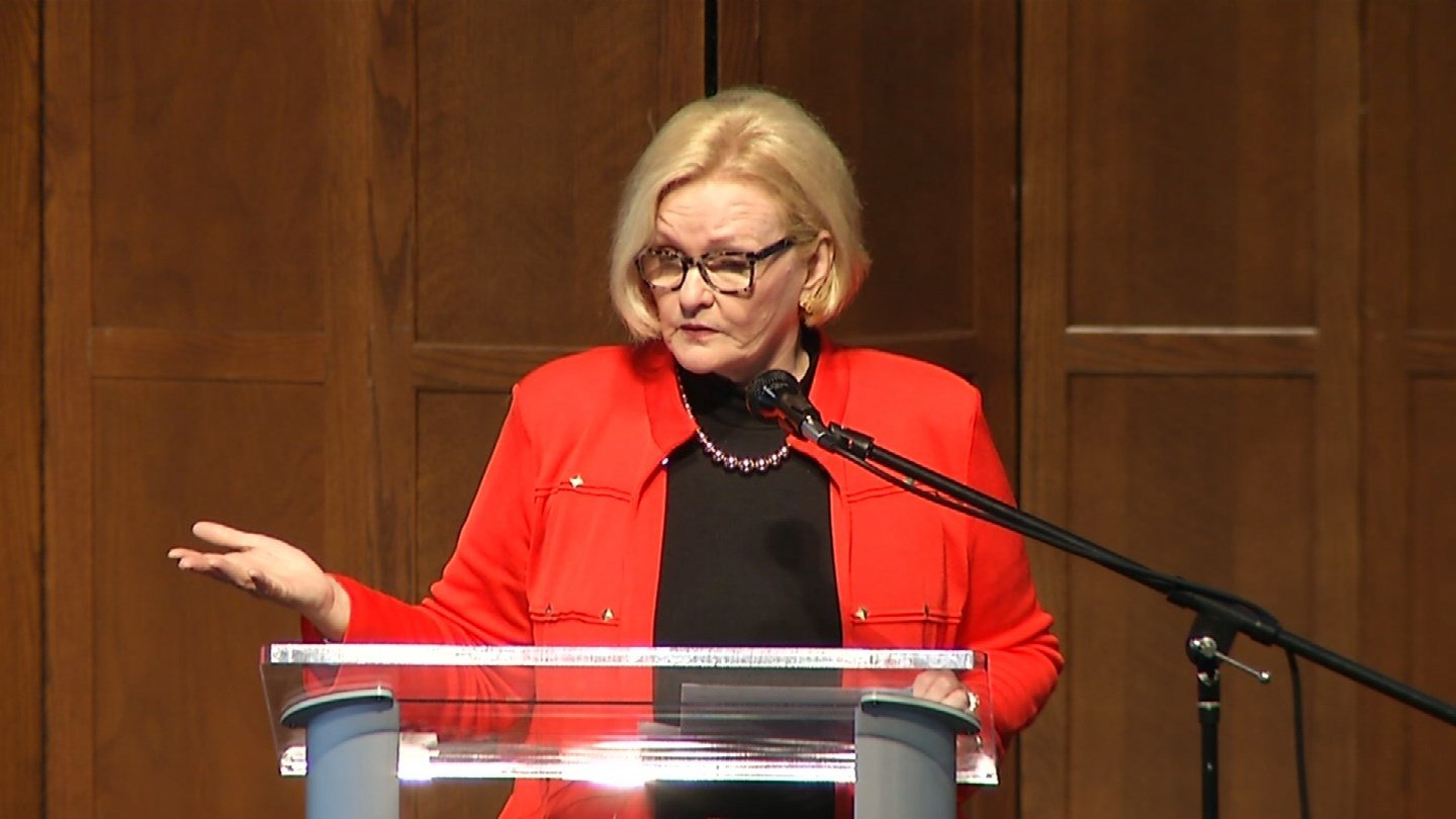 "McCaskill was one of five Democrats who voted ""yes"" Friday night to keep the government open. (File photo)"