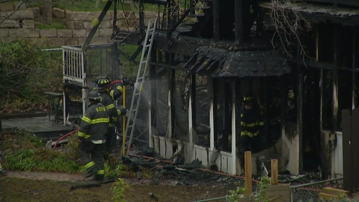 Firefighters say strong winds caused the fire to spread. (KCTV)